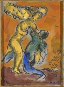 jacob-wrestling-with-the-angel-artist-Marc-Chagall
